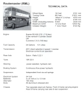 Routemaster Technical Data